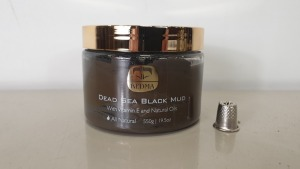 6 X BRAND NEW KEDMA DEAD SEA BLACK MUD WITH VITAMIN E AND NATURAL OILS - 550g