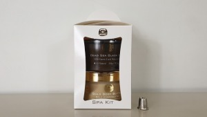 4 X BRAND NEW KEDMA SPA KIT WITH DEAD SEA BLACK MUD AND GOLD BODY BUTTER 500g / 200g