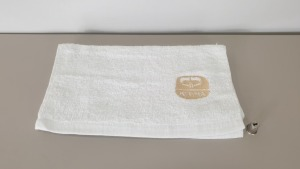 APPROX 40 X WHITE KEDMA EMBROIDERED FACE / HAND / FOOT TOWELS
