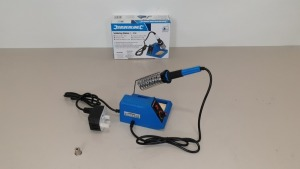10 X BRAND NEW SILVERLINE SOLDERING STATIONS 5-48W (PROD CODE 245090) - RRP £31.34 EACH (EXC VAT) IN